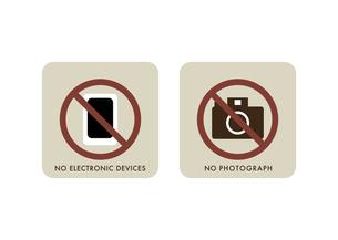 電子機器とカメラの使用禁止アイコンのイラスト素材 [FYI04779978]