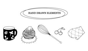 ナチュラルな手描き線画のイラストのイラスト素材 [FYI04779979]