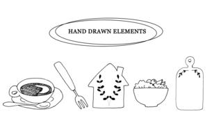 ナチュラルな手描き線画のイラストのイラスト素材 [FYI04779980]