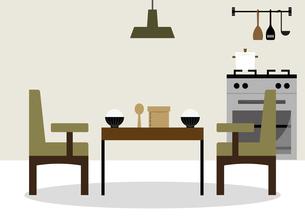 テーブル 食卓 ご飯 イラストのイラスト素材 [FYI04780250]