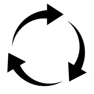3つの矢印によるアイコン 円形の回転のイラスト素材 [FYI04780504]