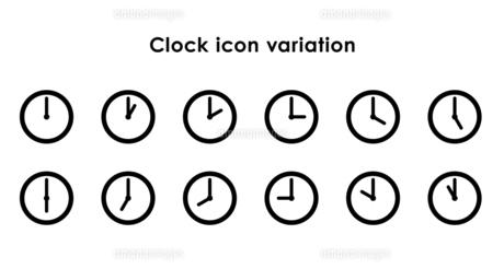 時計アイコンの24時間セットのイラスト素材 [FYI04780505]