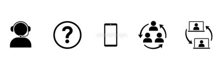 ビジネスアイコン コールセンターやコミュニケーションのイラスト素材 [FYI04780594]