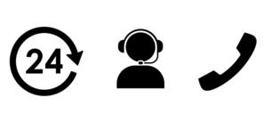 ビジネスアイコン 24時間コールセンターやコミュニケーションのイラスト素材 [FYI04780595]