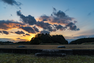 特別史跡山田寺跡 夕景の写真素材 [FYI04780740]