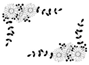 ナチュラルなお花の手描き線画イラストのイラスト素材 [FYI04780893]