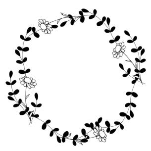ナチュラルなお花の線画イラストのイラスト素材 [FYI04780894]