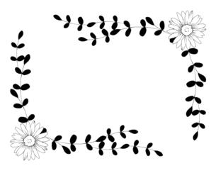 ナチュラルな花の線画イラストのイラスト素材 [FYI04780897]