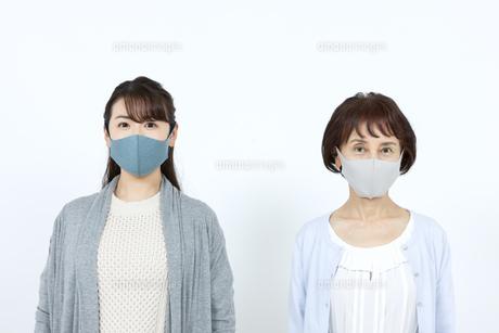 マスクを着けた母娘の写真素材 [FYI04780910]