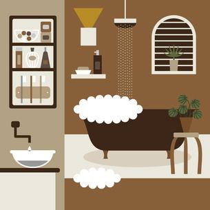 洗面所とお風呂イラストのイラスト素材 [FYI04780946]