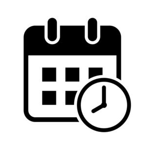 カレンダーと時計のアイコンのイラスト素材 [FYI04781326]