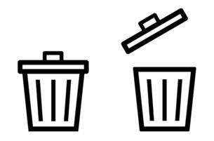 ゴミ箱のアイコン 開け閉めのイラスト素材 [FYI04781328]