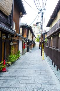 京都祇園の町並みの写真素材 [FYI04781607]