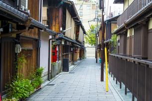 京都祇園の町並みの写真素材 [FYI04781608]