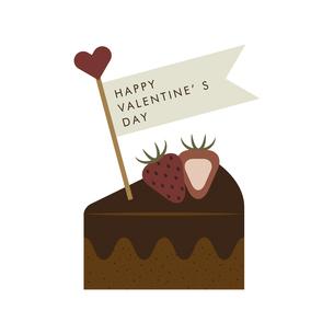 バレンタインデーチョコレートケーキのイラスト素材 [FYI04781720]