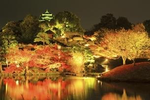 秋の幻想庭園 岡山後楽園の写真素材 [FYI04782016]