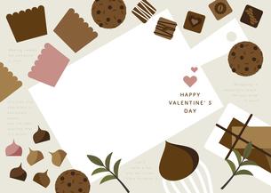 チョコレート スイーツ カッティングボード バレンタインのイラスト素材 [FYI04782608]