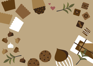 チョコレート お菓子 背景 バレンタインのイラスト素材 [FYI04782611]