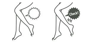 スリムな脚-ふくらはぎ-吹き出しのイラスト素材 [FYI04782620]