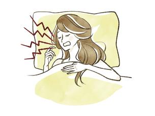 女性-睡眠-いびきのイラスト素材 [FYI04782794]