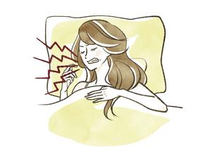 女性-睡眠-歯ぎしりのイラスト素材 [FYI04782795]