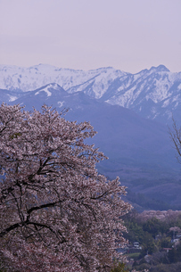 早春の山脈の写真素材 [FYI04783019]