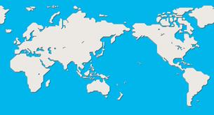 世界地図(簡略化されたアウトラインの世界地図)のイラスト素材 [FYI04783557]