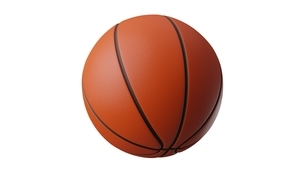 Basketball ball on white background. 3d illustration for background.のイラスト素材 [FYI04783560]