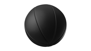 Black basketball ball on white background. 3d illustration.のイラスト素材 [FYI04783562]