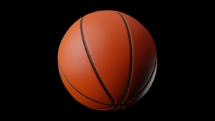 Basketball ball on black background. 3d illustration for background.のイラスト素材 [FYI04783628]