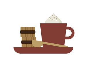 コーヒーとクッキー イラストのイラスト素材 [FYI04783676]