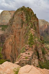 ザイオン国立公園のエンジェルスランディングのトレッキング風景の写真素材 [FYI04783730]