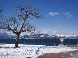 冬の屈斜路湖の写真素材 [FYI04783809]