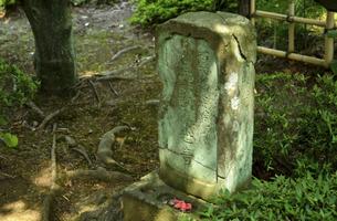 殿ケ谷戸庭園・馬頭観音の石碑の写真素材 [FYI04783944]