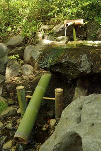 殿ケ谷戸庭園・鹿おどしの写真素材 [FYI04783950]