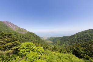 雲仙仁田峠からの島原方面眺望の写真素材 [FYI04783957]