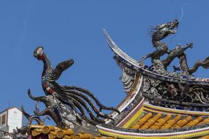 孔子廟儀門の装飾の写真素材 [FYI04783995]