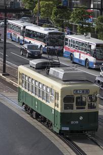 長崎の路面電車の写真素材 [FYI04784004]