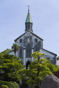 新緑の大浦天主堂の写真素材 [FYI04784024]