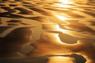 5月 波と光がつくる砂模様の写真素材 [FYI04784166]