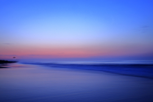 5月 九十九里浜の夜明けの写真素材 [FYI04784173]