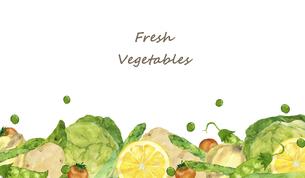 野菜のフレーム 水彩イラストのイラスト素材 [FYI04784391]