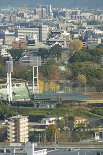 秋の熊本城の写真素材 [FYI04784454]