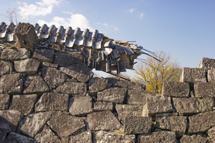 熊本地震で被災した熊本城の写真素材 [FYI04784501]
