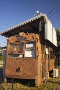 熊本市電400形403号の廃車体の写真素材 [FYI04784510]