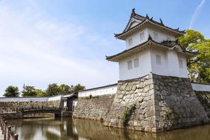 赤穂城の櫓と石垣の写真素材 [FYI04784770]