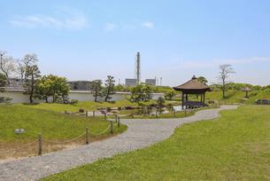 赤穂城の二之丸庭園の写真素材 [FYI04784795]