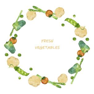 野菜のフレーム 水彩イラストのイラスト素材 [FYI04784861]