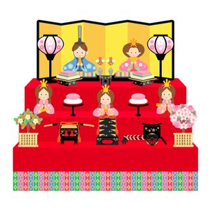 雛人形 五人飾り イラストのイラスト素材 [FYI04786025]