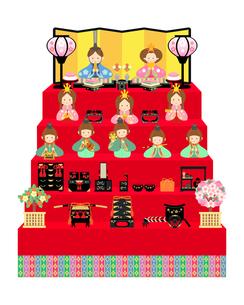 雛人形 十人飾り イラストのイラスト素材 [FYI04786026]